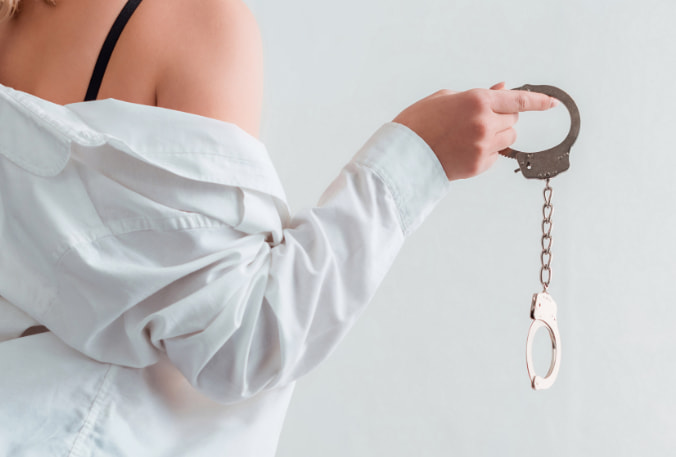 Women BDSM Handcuffs